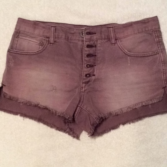 Free People Pants - Free People Button Fly Dusty Purple Shorts 27